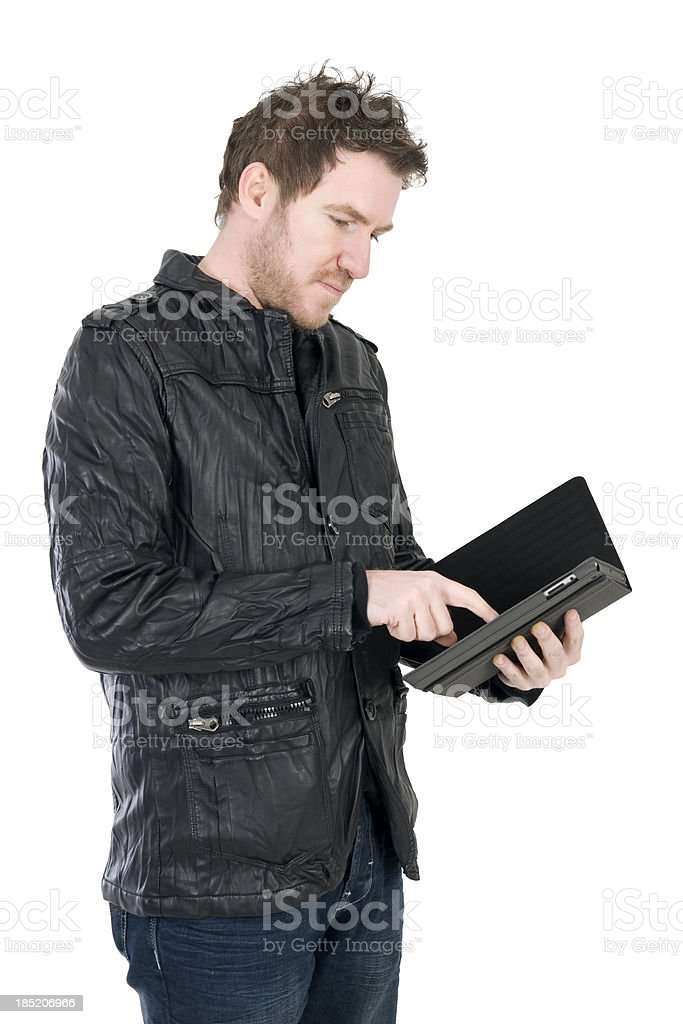 Man Using Touch Pad royalty-free stock photo