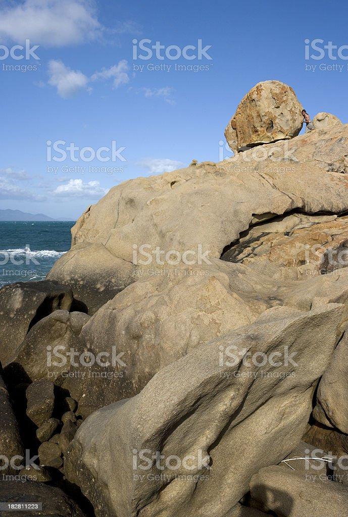 Man Verses Mountain royalty-free stock photo