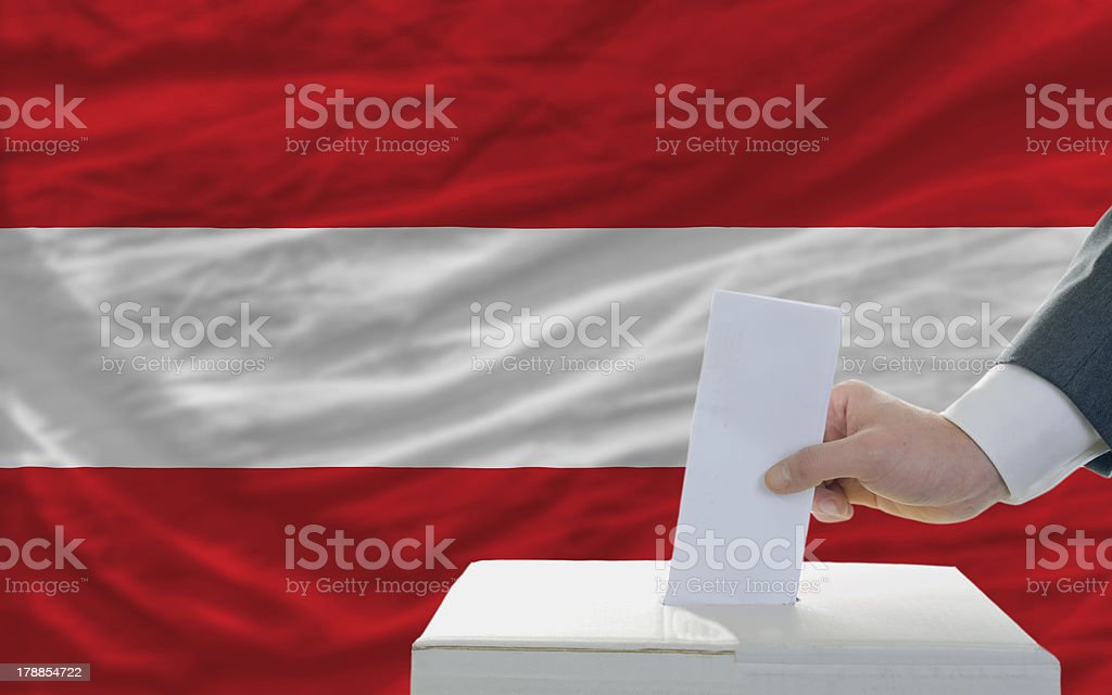 man voting on elections in austria royalty-free stock photo