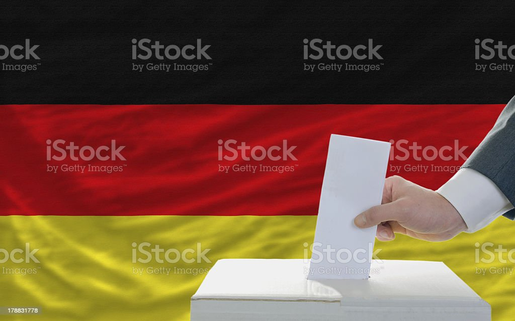 man voting on elections in germany royalty-free stock photo