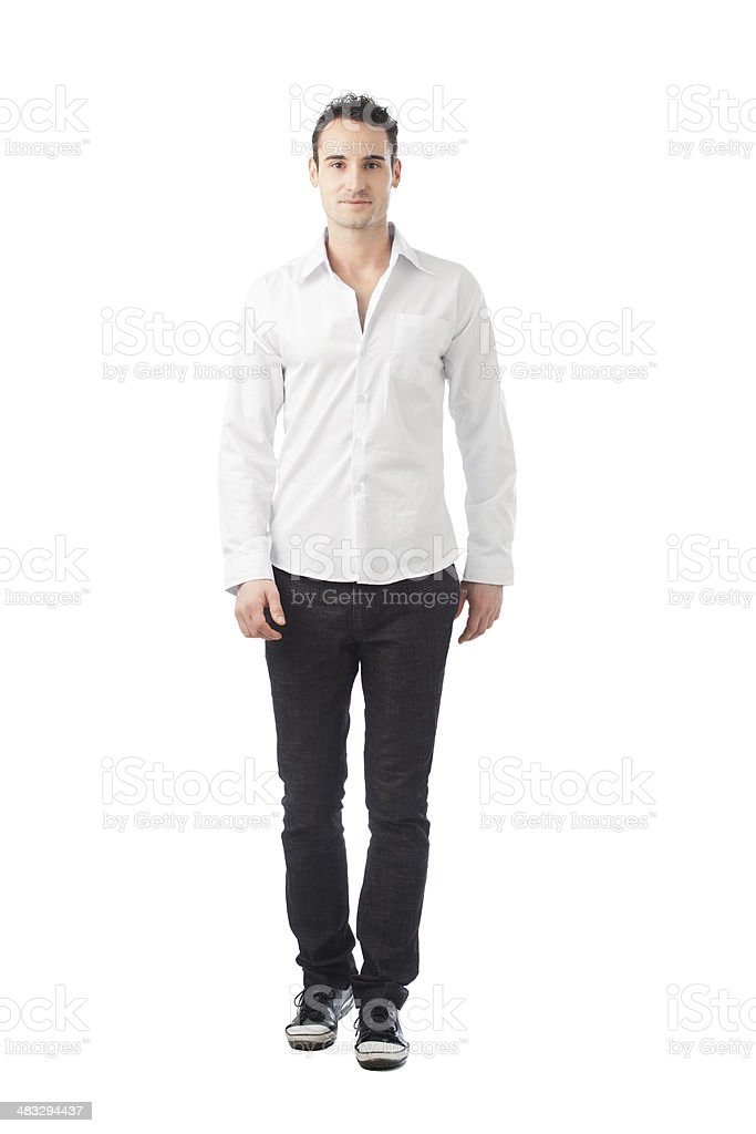 Man Walking stock photo