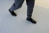 man walking quick