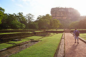 Man walking through to Sigiriya, Sri Lanka