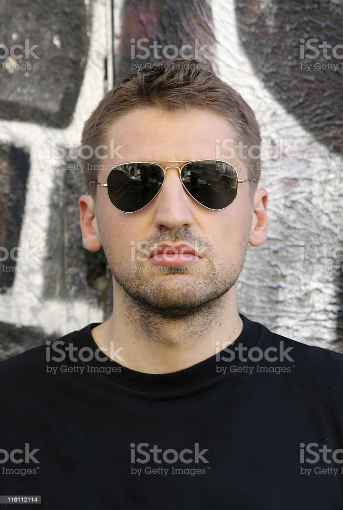 man wall royalty-free stock photo
