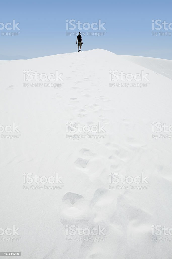 Man Wandering the Desert royalty-free stock photo