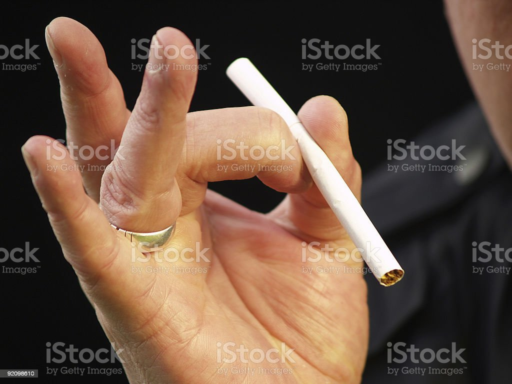 man wants to quit smoking royalty-free stock photo
