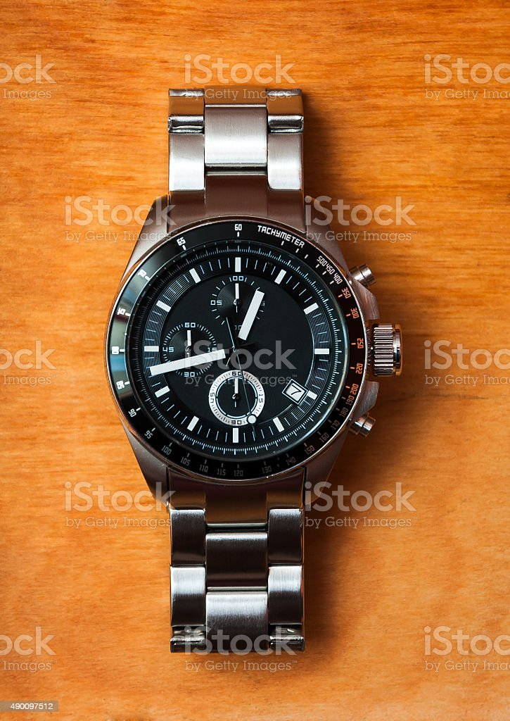 Man watch stock photo