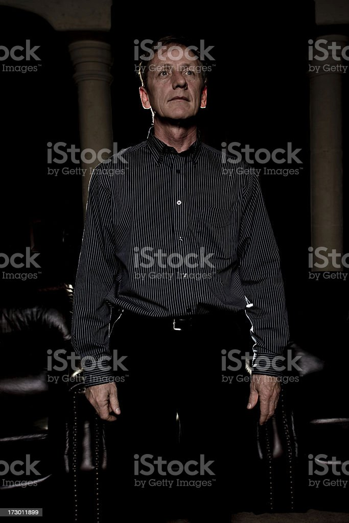 man watching movie royalty-free stock photo