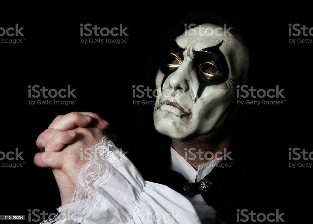 man wearing a mask stock photo