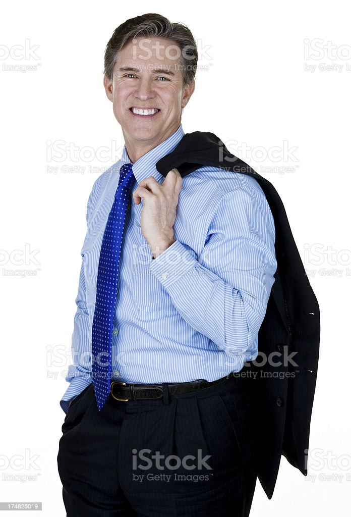 Man wearing a suit royalty-free stock photo