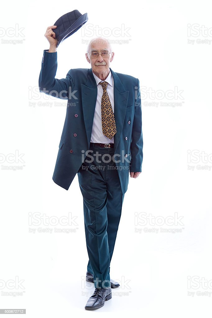 Man wearing  a suit. stock photo