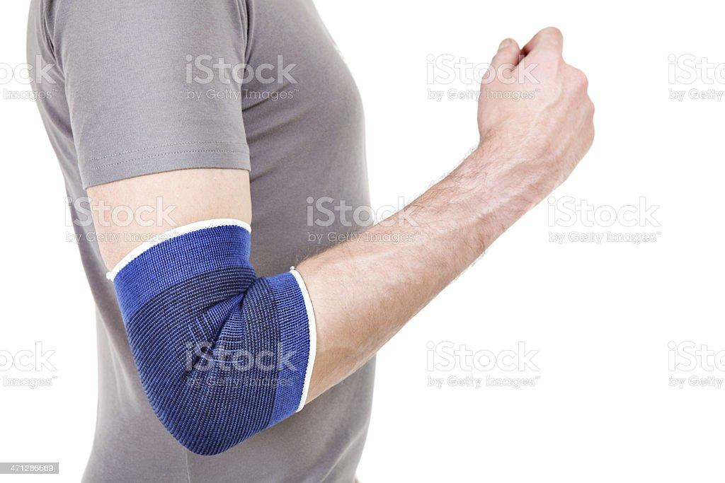 Man Wearing Elbow Brace stock photo