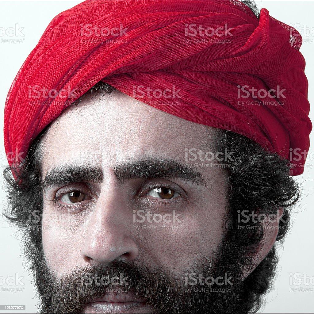 Man wearing head scarf royalty-free stock photo