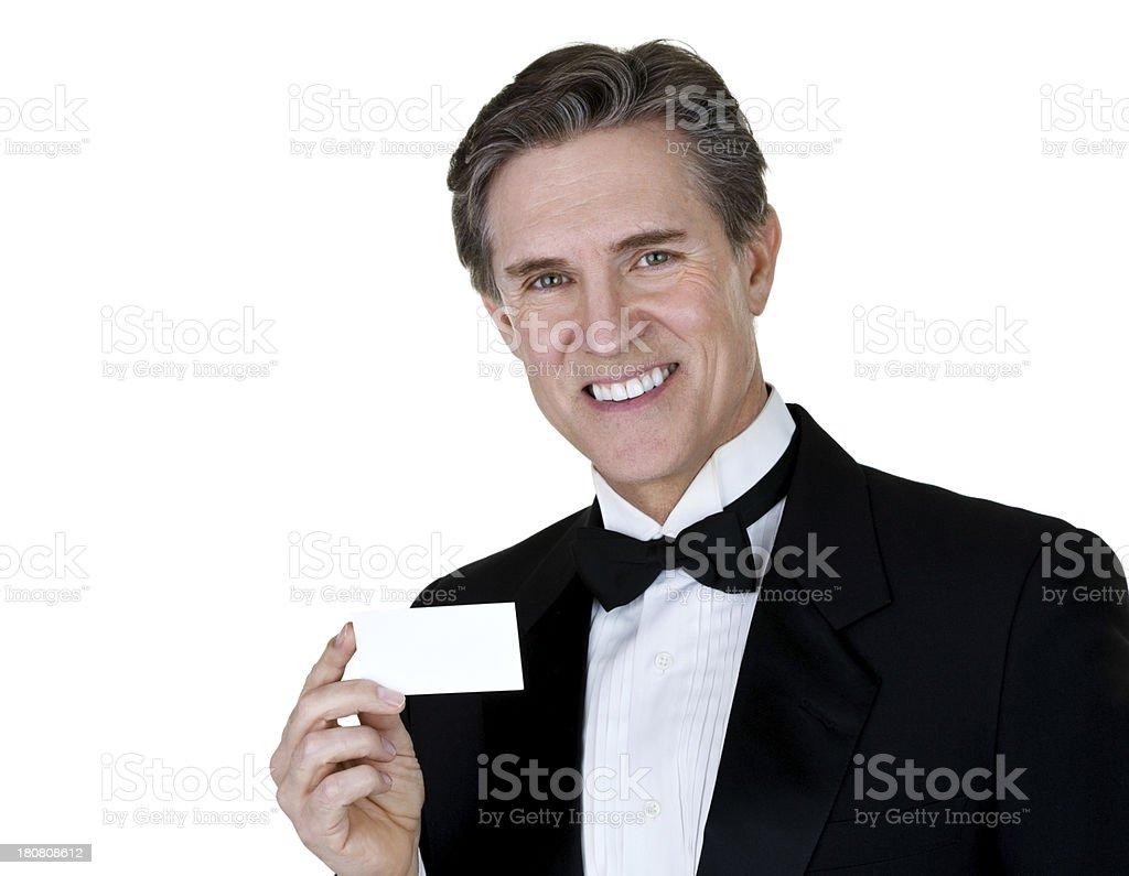 Man wearing tuxedo royalty-free stock photo