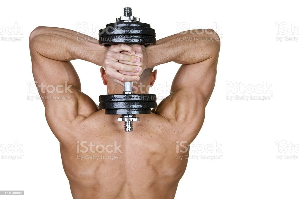 Man weightlifting royalty-free stock photo