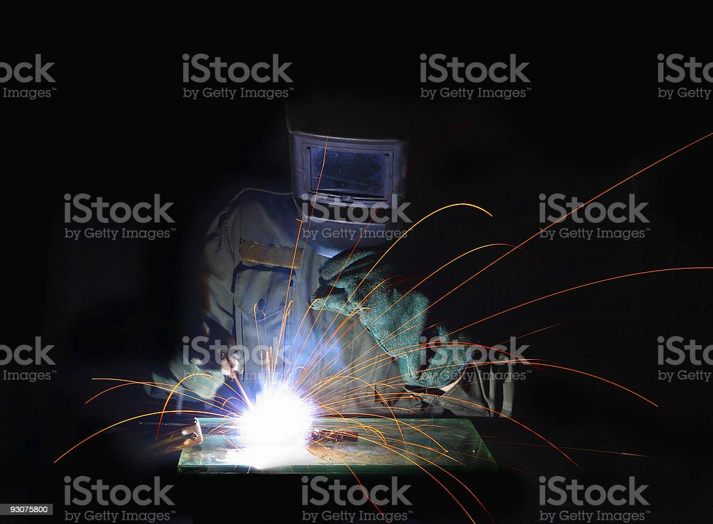 man weld metal stock photo