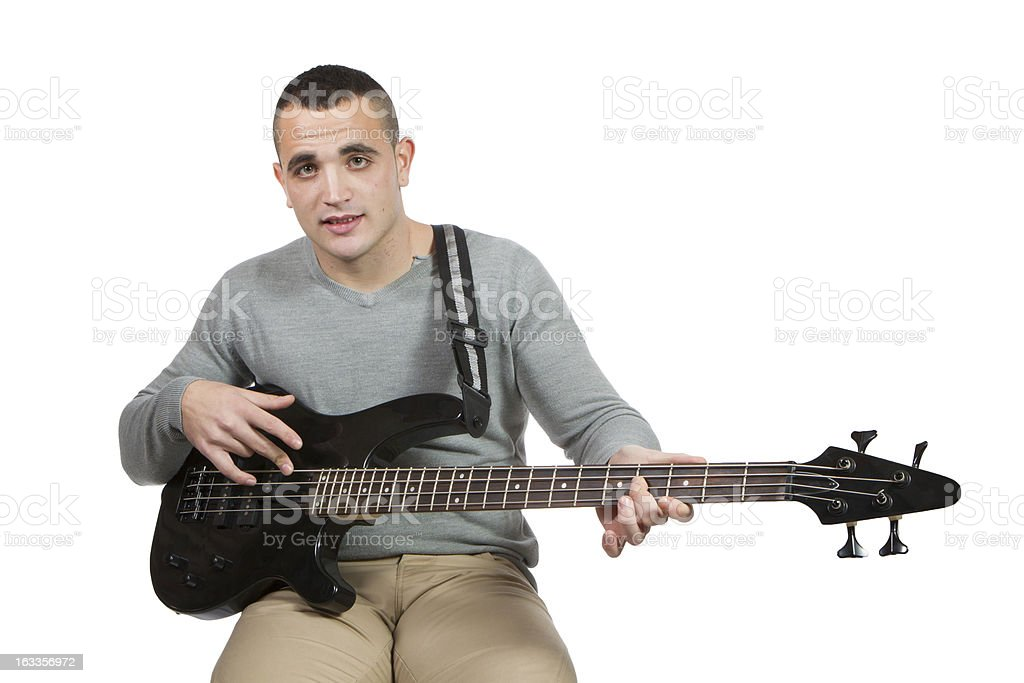 man whit bass royalty-free stock photo