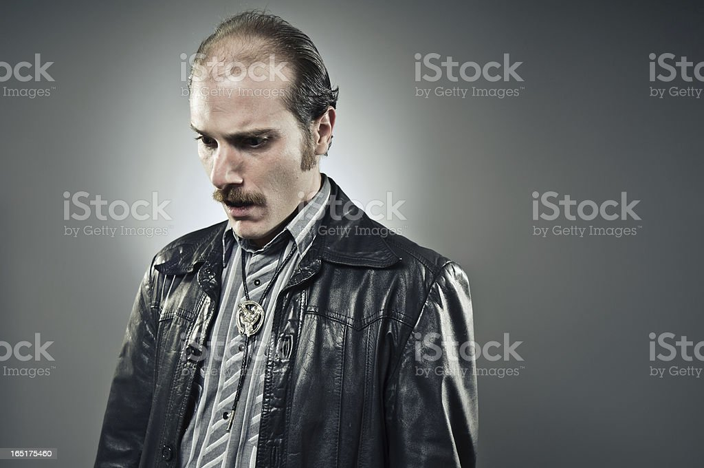 Man Who Has Lost It All stock photo