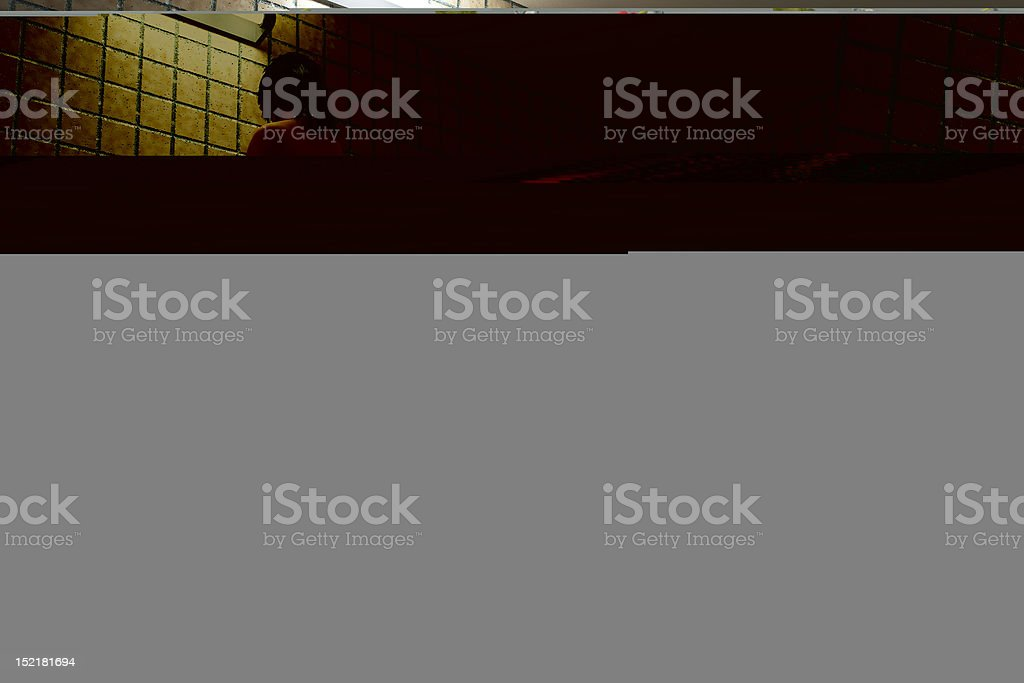 man who opposing the wind royalty-free stock photo