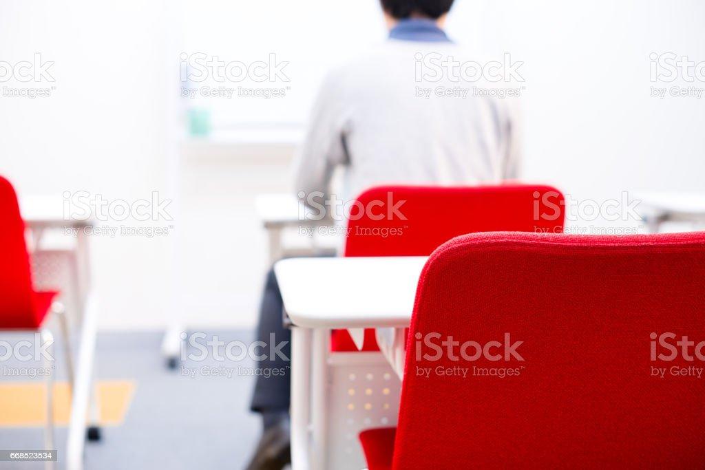 Man who study stock photo