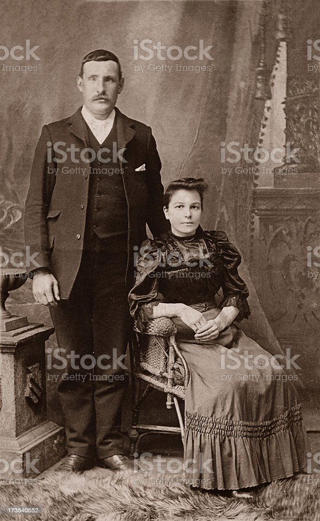 Man & Wife stock photo