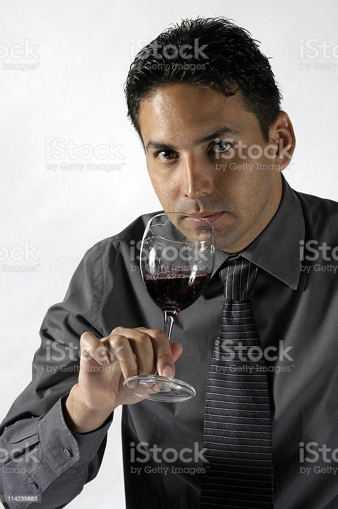 man wine tasting stock photo
