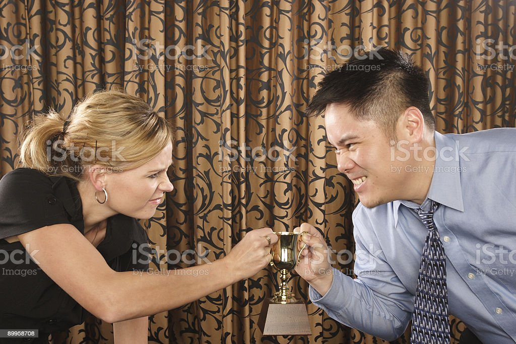 Man wins stock photo