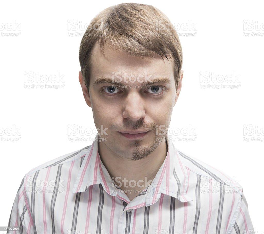 Man with a beard. stock photo