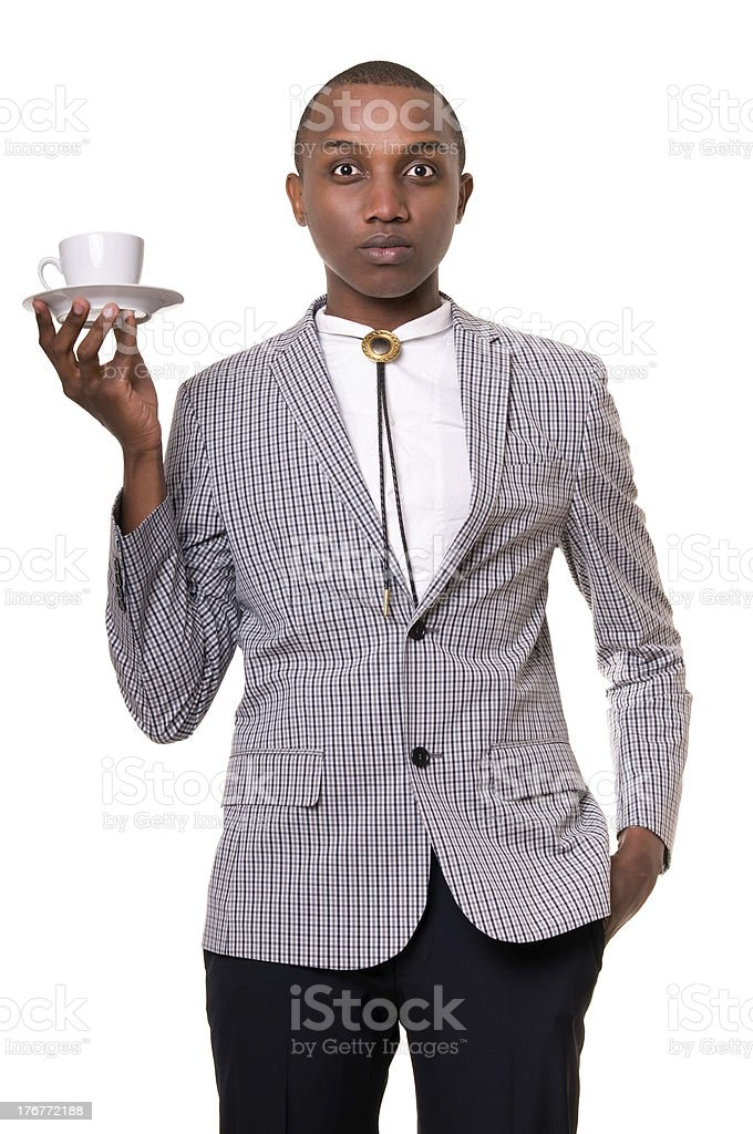 Man with a coffee cup. royalty-free stock photo