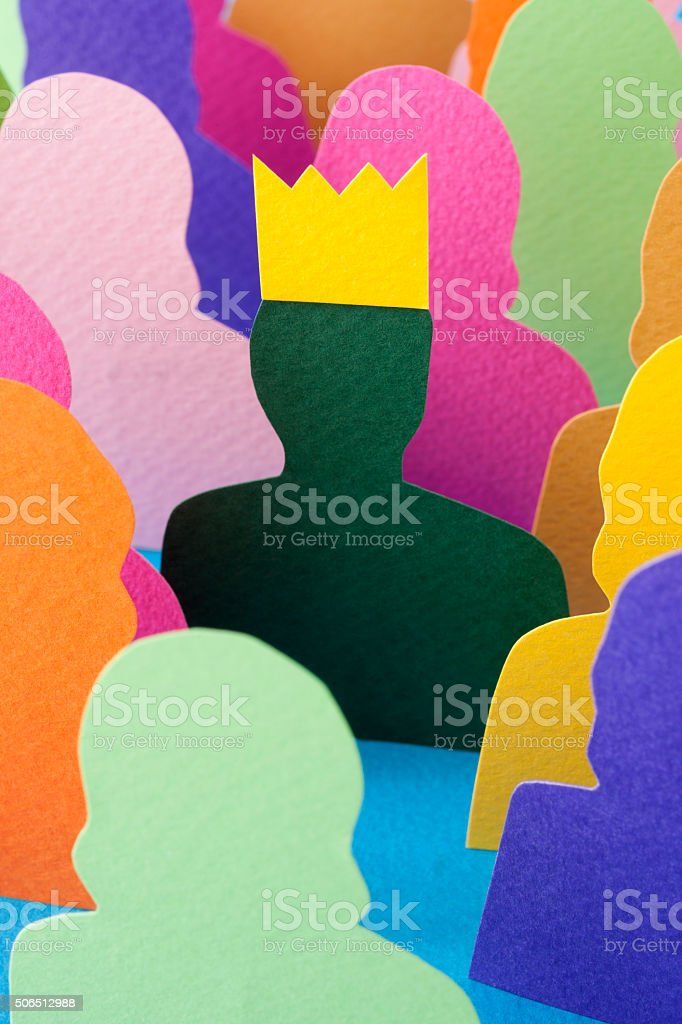 Man with a crown stock photo