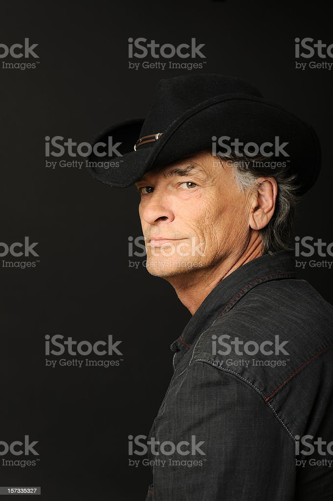 Man with a hat stock photo