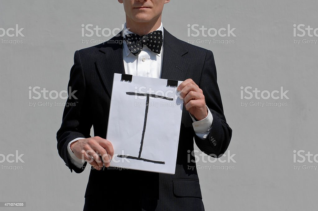 Man With A Message royalty-free stock photo