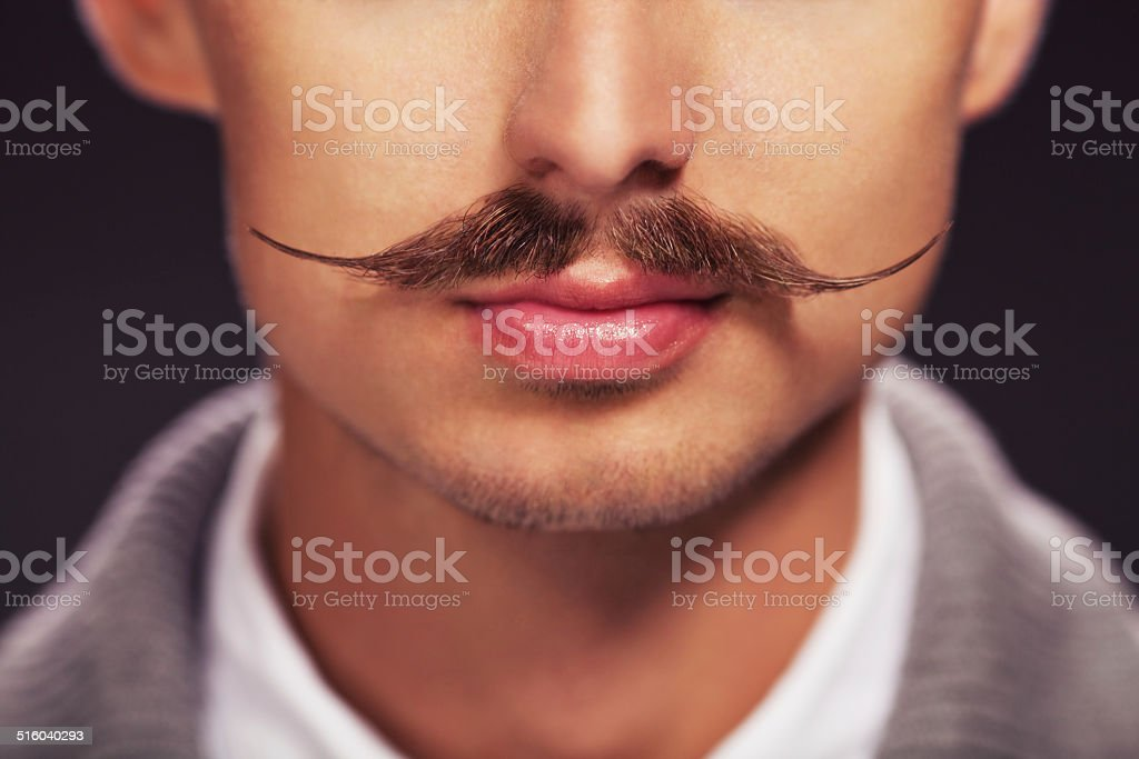 Man with a mustache stock photo
