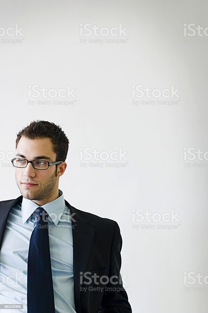 Man with a Plan royalty-free stock photo