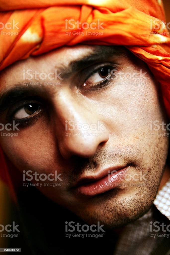 Man with a turban royalty-free stock photo