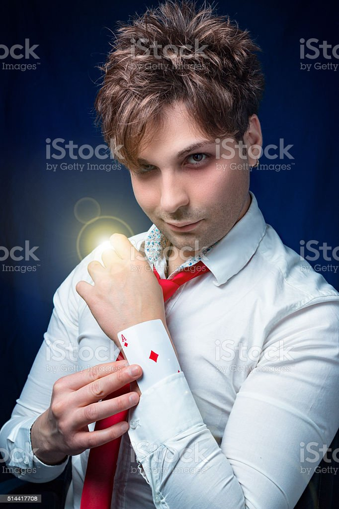 man with ace stock photo