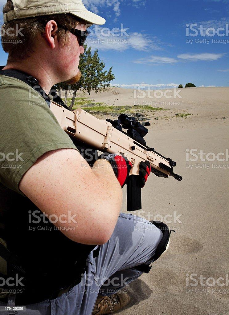 Man with Airsoft Gun royalty-free stock photo