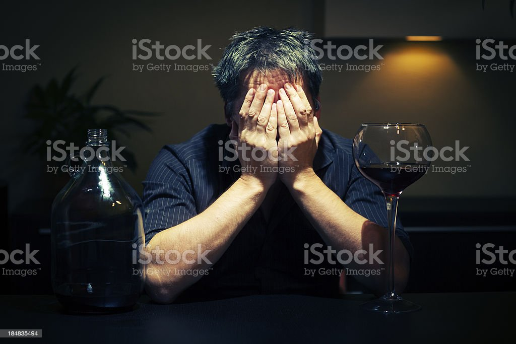 Man With Alcohol Problems royalty-free stock photo