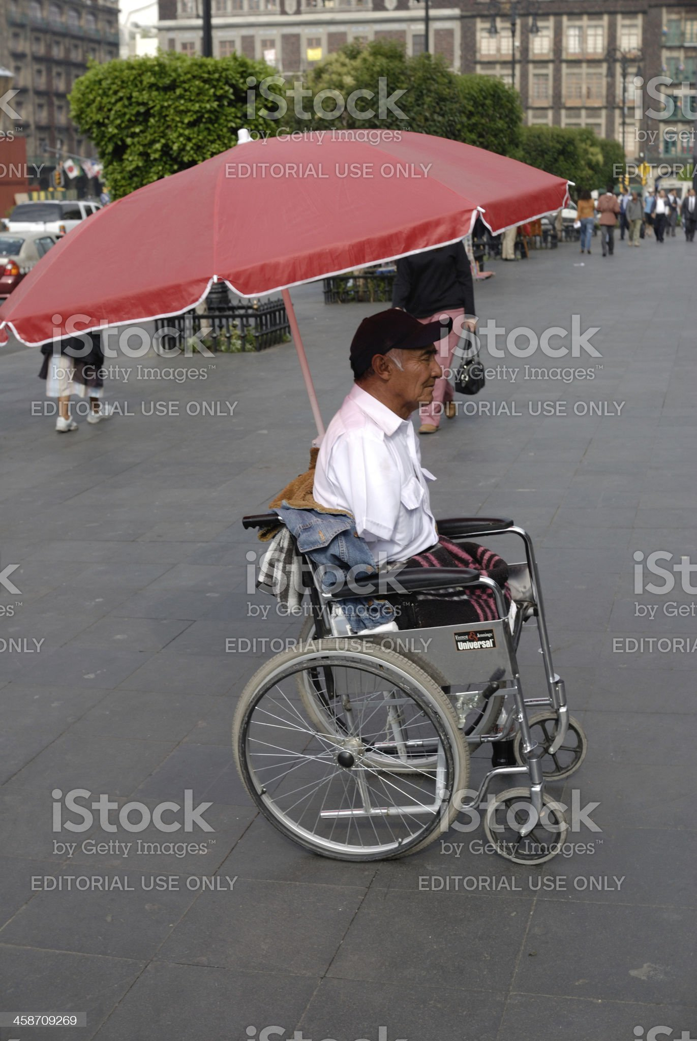 Man with amputated legs begs begging royalty-free stock photo