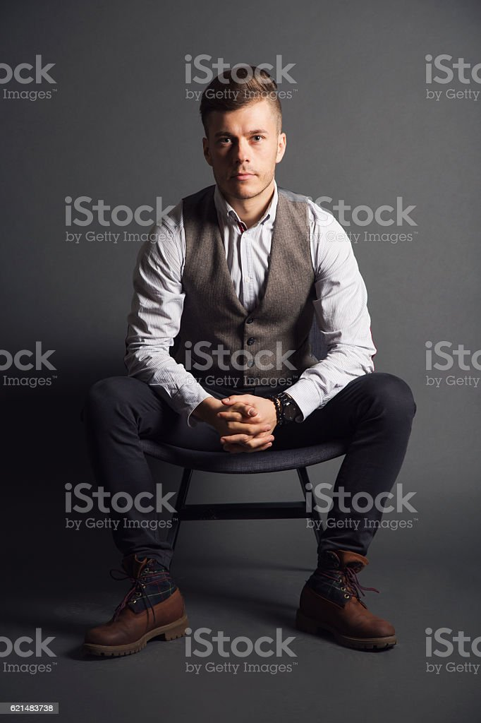 Man With An Attitude stock photo