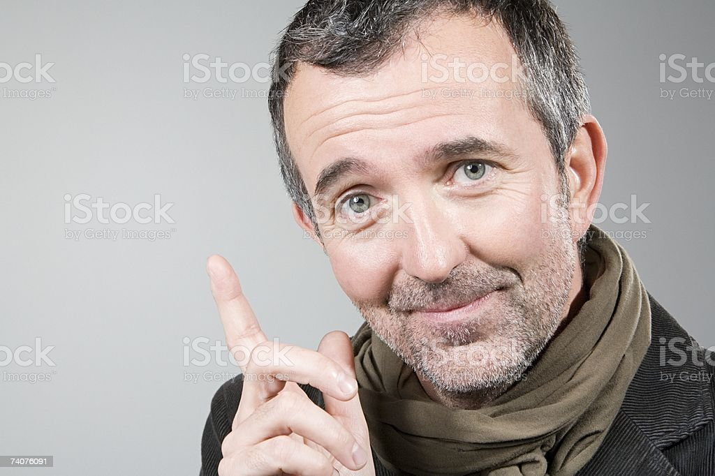 Man with an idea stock photo