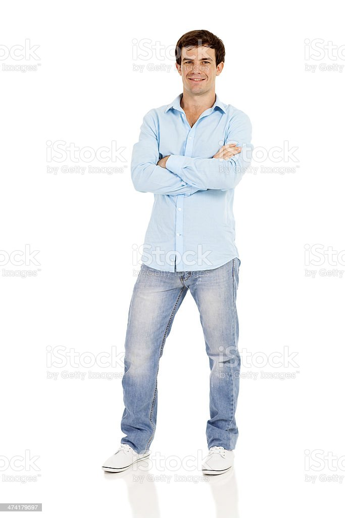 man with arms crossed royalty-free stock photo