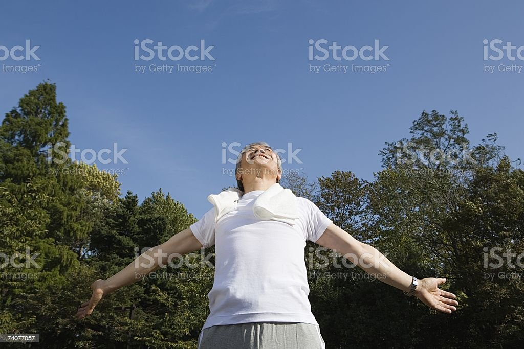 Man with arms open royalty-free stock photo