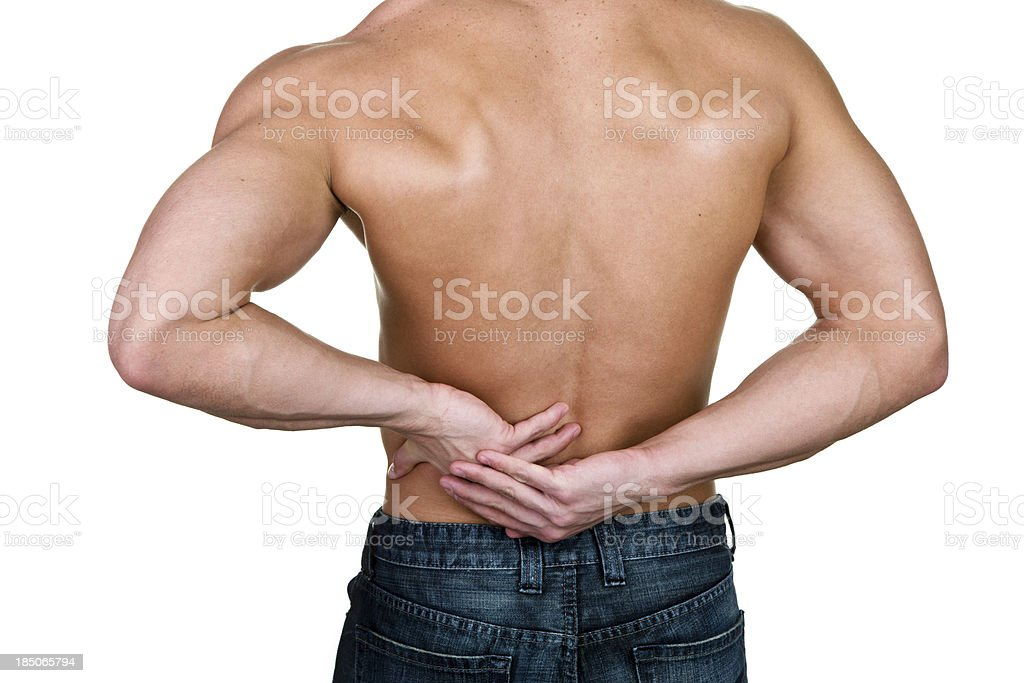 Man with backache royalty-free stock photo