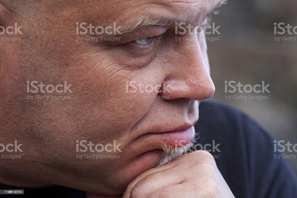 Homem com bald head. foto de stock royalty-free