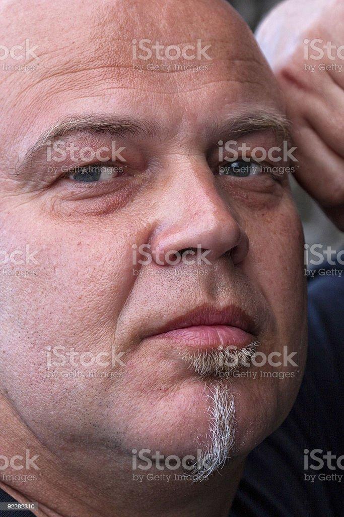 Homem com bald head foto de stock royalty-free