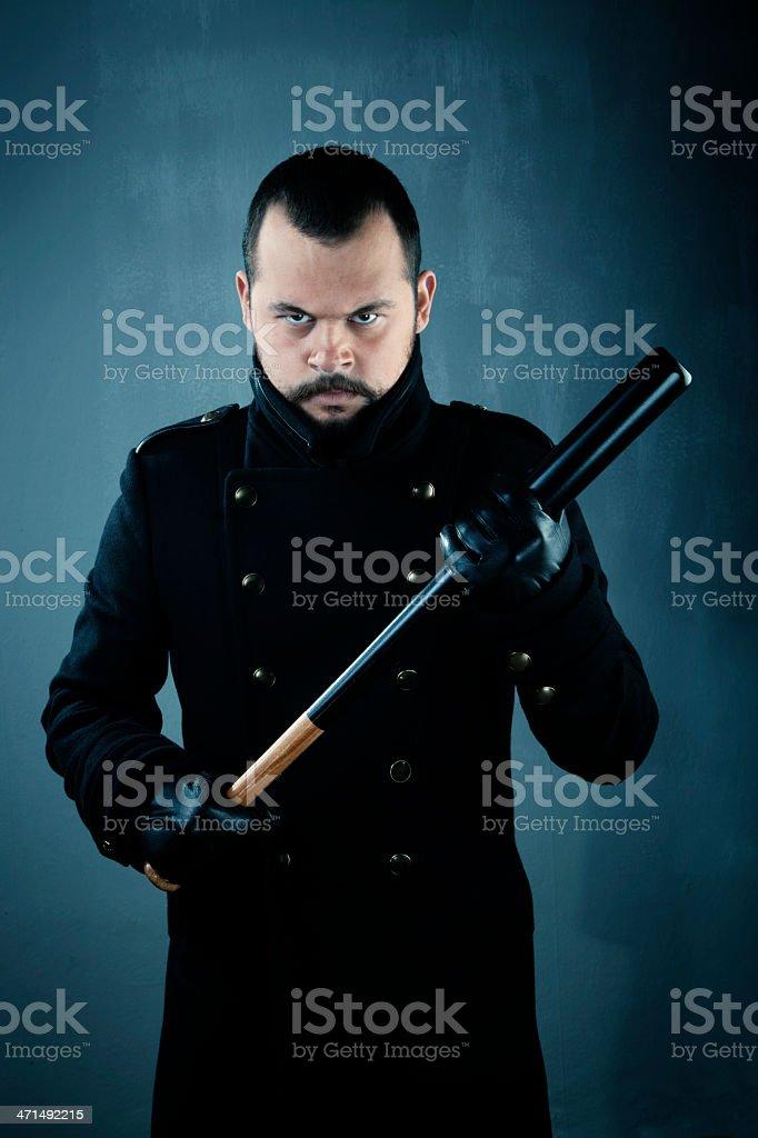 Man with baseball bat royalty-free stock photo