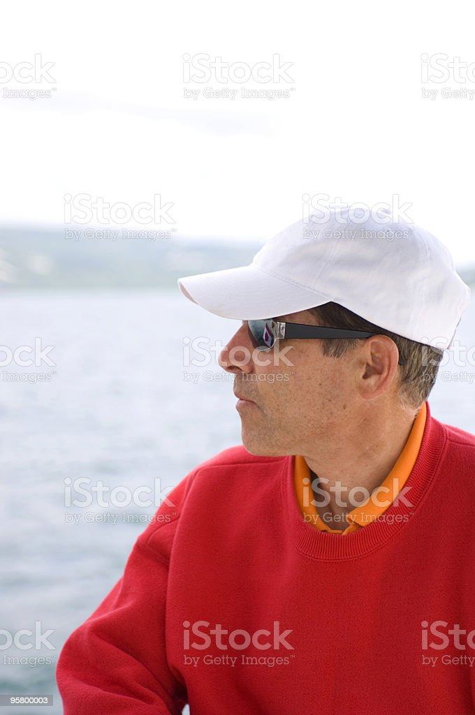 Man With Baseball Cap royalty-free stock photo