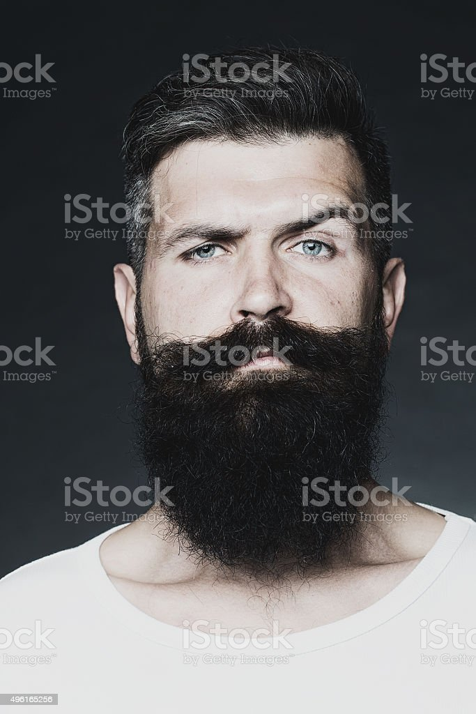 Man with beard stock photo
