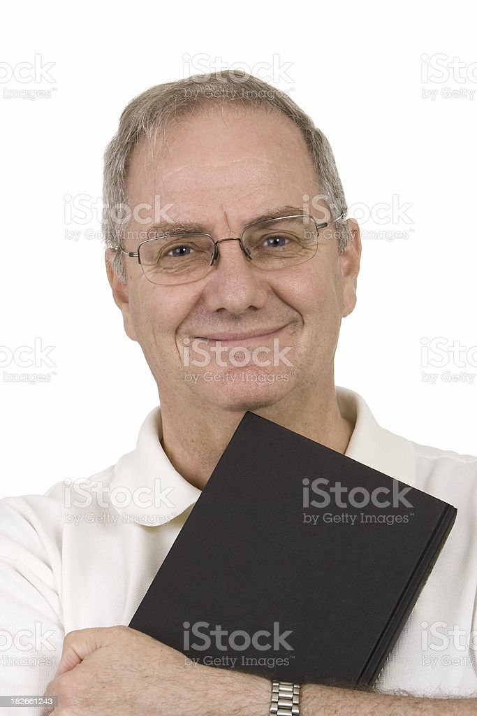 Man with book royalty-free stock photo